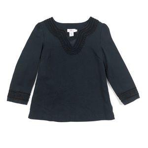 Vineyard Vines silk cotton navy black tunic top 2